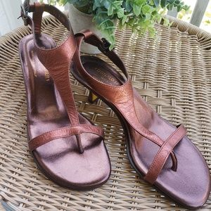 Donald J Pliner Rust Leather Sandals